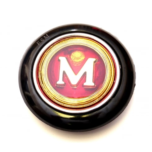 """Horn Push/Button (1964-1972) New with """"M"""" centre"""