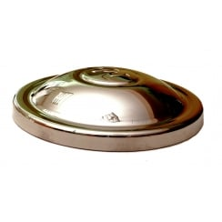 """Hubcap (""""M"""") 1951-1953 (8.1/2"""" Diameter) Stainless Steel"""