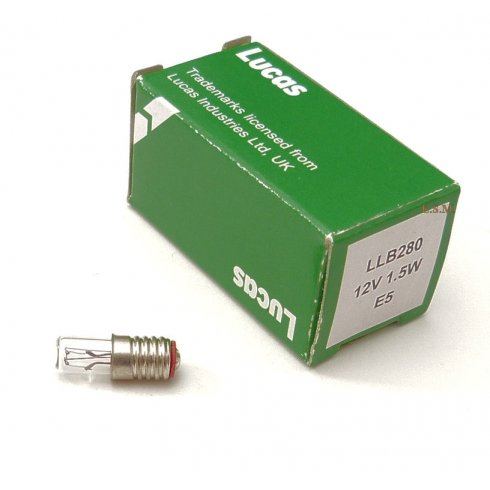 Indicator Warning Bulb-Fits In Indicator Switch 12v/1.5w (Screw-In) LUCAS