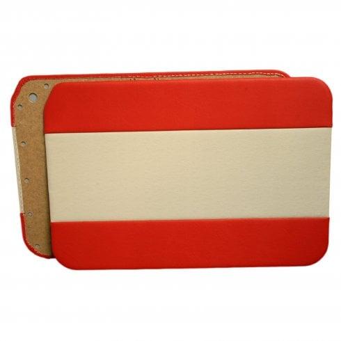 Interior Door Panels 1962-64 2-Door/Traveller/Convertible (RED DUO-TONE) PAIR