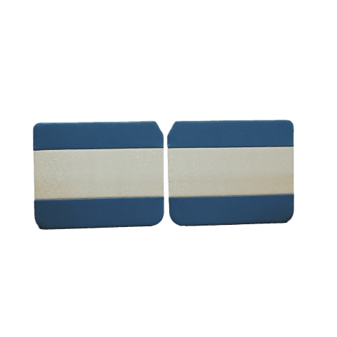 Interior Door Panels-Front-4-Door 1962-64 (BLUE DUO-TONE) Pair