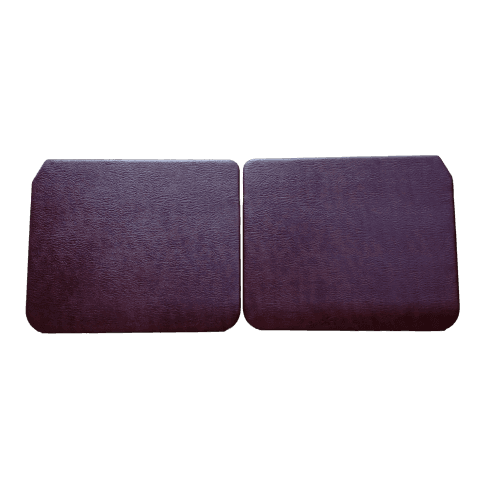 Interior Door Panels-Front-Plain 1950-1959 (4-Door) Pair MAROON
