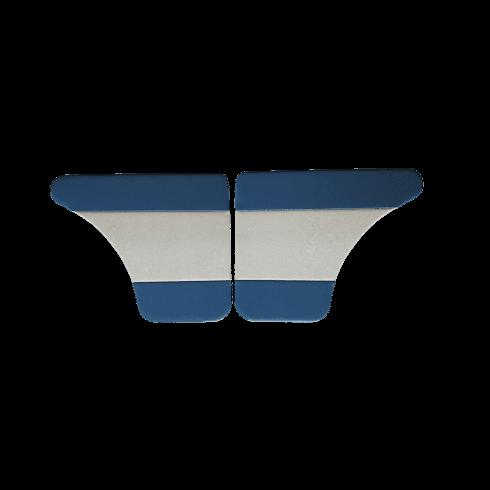 Interior Door Panels-Rear-4-Door 1962-64 (BLUE DUO-TONE) Pair