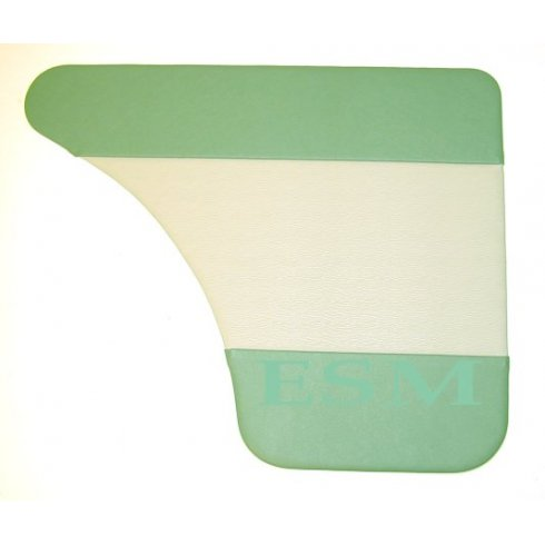 Interior Door Panels-Rear-4-Door 1962-64 (GREEN DUO-TONE) Pair