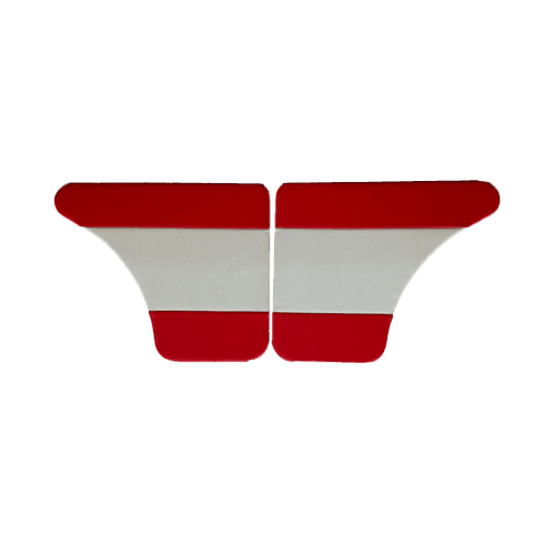 Interior Door Panels-Rear-4-Door 1962-64 (RED DUO-TONE) Pair