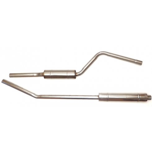 Large Bore Exhaust System (Twin Box) ***STAINLESS STEEL*** (2 Piece System EXCLUDING Downpipe)