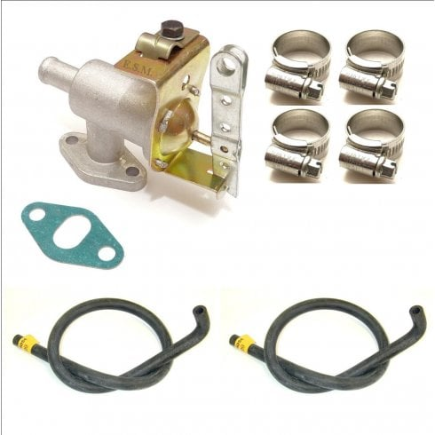 Late Type Heater Control Valve with Pair of Moulded Heater Hoses & Clips