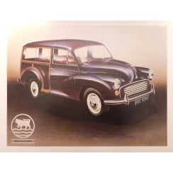 "Morris Minor Poster 20"" x 15"" (Traveller)"