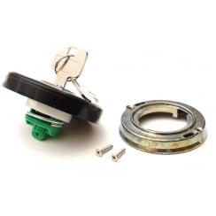 Petrol / Fuel / Gas Cap - Locking Type (Black Plastic)