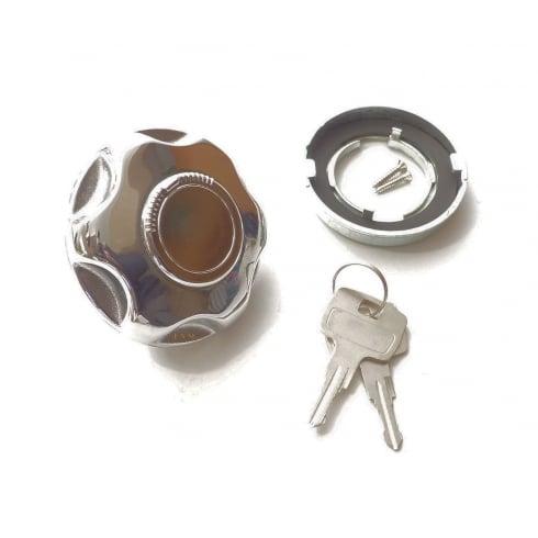Petrol / Fuel / Gas Cap - Locking Type (Chrome)