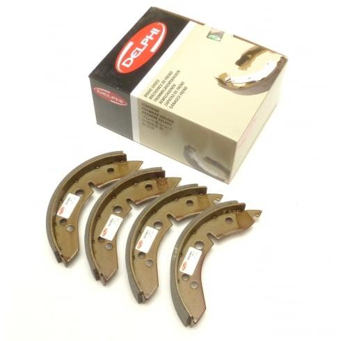 "Rear Brake Shoes-Set 4 (7"" All Models) LOCKHEED/DELPHI (LS1001)"