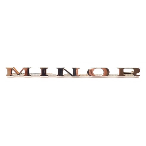 Rear Chrome Boot Badge MINOR *Supplied with Fixing Clips*