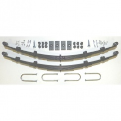Rear Leaf Spring Kit - 7 Leaf Springs (Traveller) RUBBER BUSHES