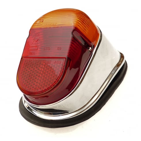 Rear Light - Complete R/H (Oct.`63-On) Chrome On Cast Alloy Base with Lucas Lens