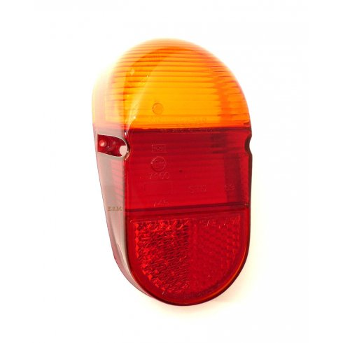 Rear Light Lens (Red/Amber) October `63-On LUCAS