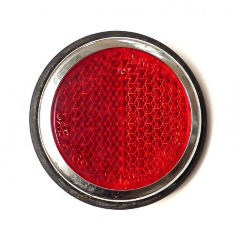 """Rear Red Reflector - 2.1/2""""Round (Traveller Rear Post)"""