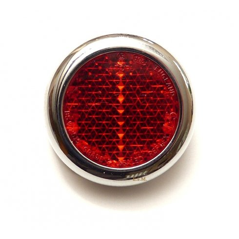 """Rear Red Reflector-2"""" Round (Traveller Rear Post)"""
