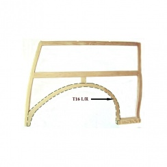 Rear Wheel Arch-Complete (Assembled) L/H TOP QUALITY ASH