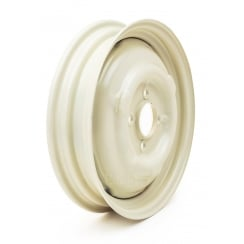 "Road Wheel - Standard Minor 1000 3J x 14"" (New) Old English White"