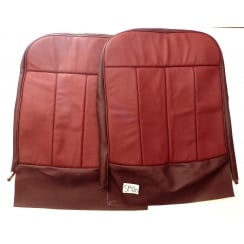 Seat Cover - Front - 1960-62 - Base & Squab (Folding Back) Leather / Vinyl Maroon (TRM7502/7503) **Colour variant See Photo**