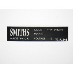 Smiths Heater Sticker ( 1970 on )