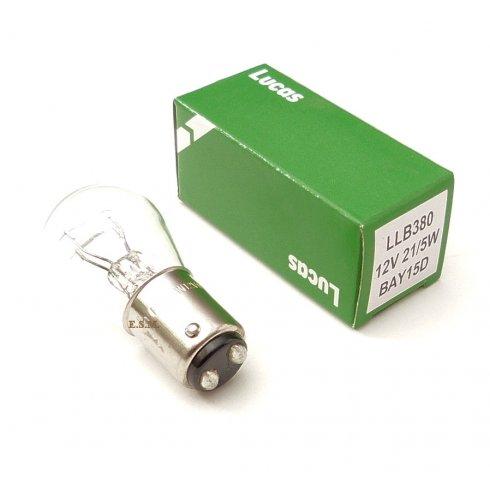 Stop/Tail Light Bulb-Twin Filament 12v 21w/5w LUCAS
