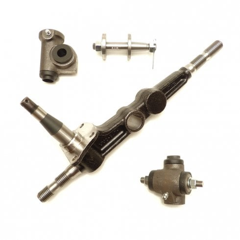 Swivel Pin Leg / King Pin With Top & Bottom Trunnions L/H (8cwt Van/Pick-Up) *Large Steering Arm*