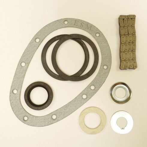 Timing Chain Replacement Kit - Single Row - With Seal,Gasket,Chain,Tensioners & Lock Washers - Fits All OHV Models
