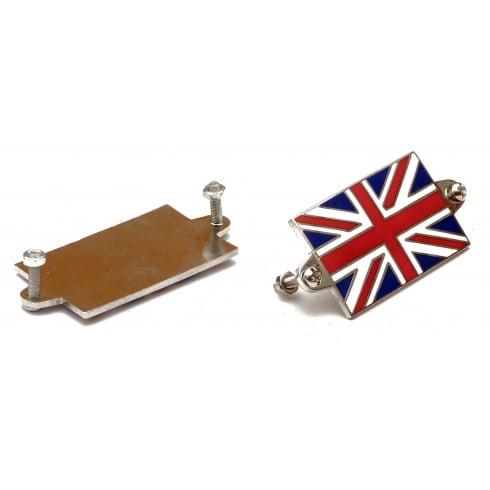 Union Jack Enamelled Badges (Pair)