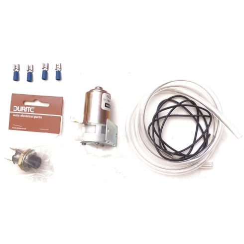 Windscreen Washer Kit (Electrical Pump) with PUSH BUTTON Type Switch (20mm Mounting Hole)