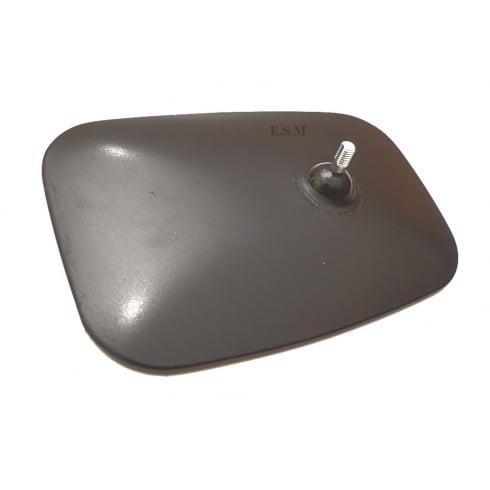 Wing Mirror Head (Large Convex Glass) For Van Stem (BLACK FINISH) TEX