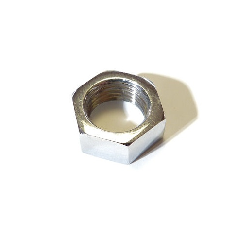 Wiper Wheelbox Nut (Late Split-Screen Models) Chrome Plated Brass