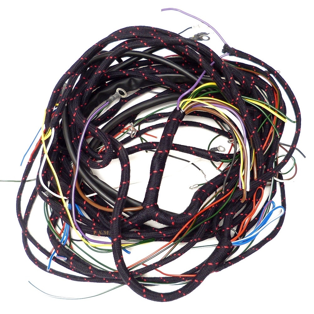Wiring Loom 1954 To 1955 Central Speedo Chassis Number 286441 On Car Harness Bulkhead Grommet Coil